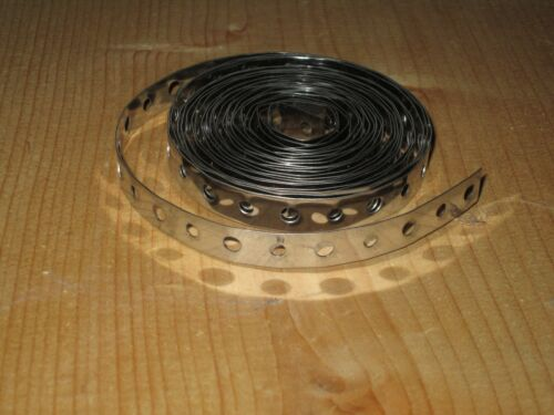 10 ft Coil 430 Stainless Steel Perforated Hanger Strap.