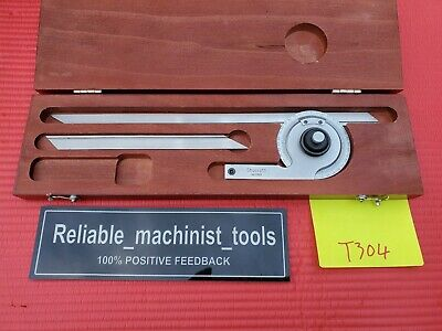 Usa Made Starrett Vernier Protractor C359 Machinist Toolst304