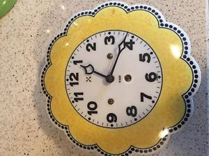 vintage 8 day german clock enamelled flower hamburg clock