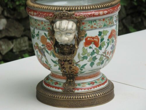 UNITED WILSON GILT & BRONZE HAND PAINTED VINTAGE PLANTER