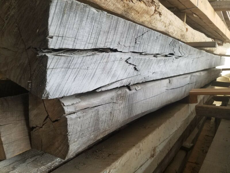 "Antique Rustic Reclaimed Architectural Wood Beam 8"" x 8"" x 16ft"