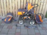 Verkaufe 1-Baby Merc-S3+-Kinderwagen-3in1,Babyschale, Tragetasche Bayern - Nördlingen Vorschau