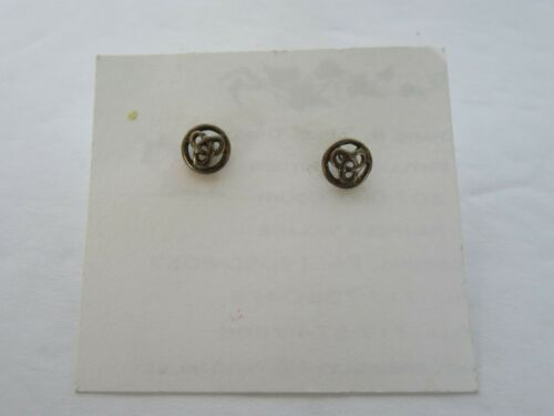 Vintage Sterling Silver Ireland Irish Celtic Trinity Stud Earrings