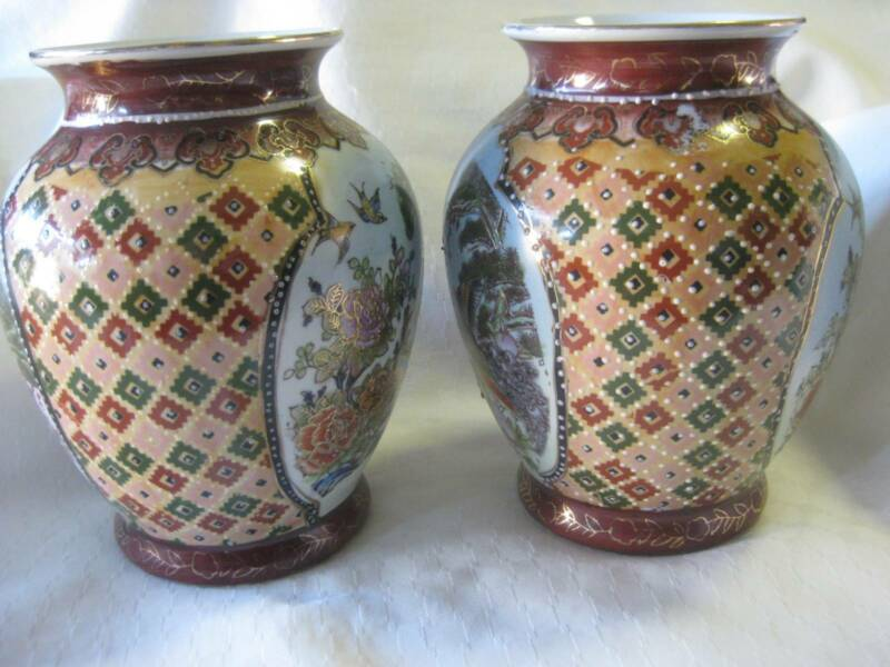 Pair Of Chinese Mantle Vases Urns Collectables Gumtree