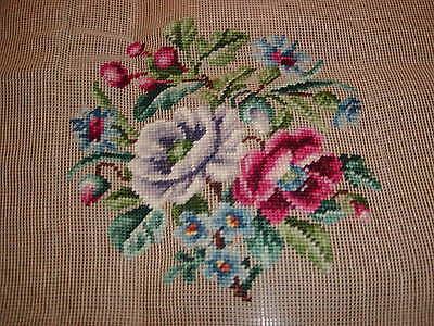 Vtg Floral  Prework Design Needlepoint Canvas-Hiawatha