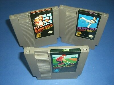 Super Mario Bros, Kung Fu & Golf Black Box in VERY GOOD COND for NES Nintendo!
