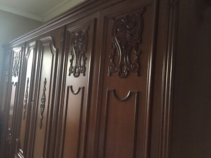 Wooden French Decore Wardrobe Beverley Park Kogarah Area Preview
