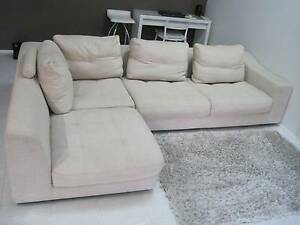 SINGWAYS linen feather/down corner sofa/lounge/chaise .. 2900mm Greenfield Park Fairfield Area Preview