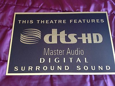 DTS HD Master Audio Home Cinema Sign