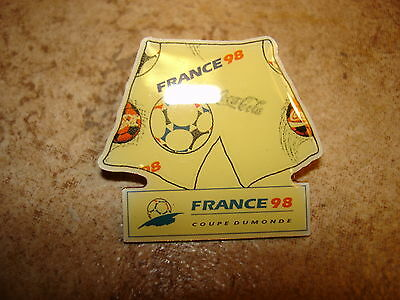 World cup soccer France 1998 jersey pin badge. image