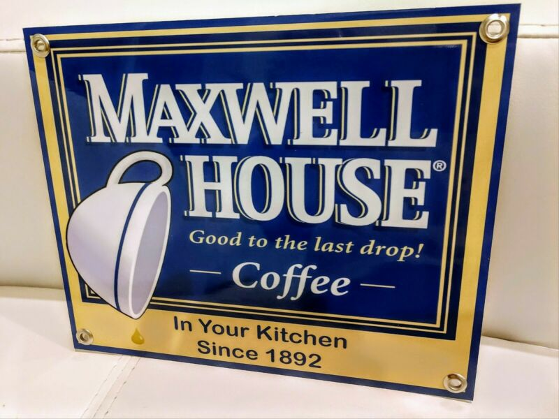 Maxwell House coffee restaurant sign