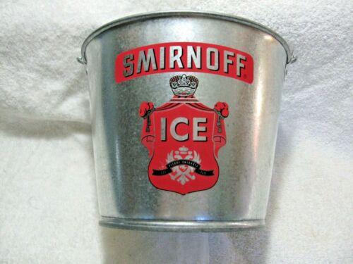 SMIRNOFF ICE Promotional Galvanized Pail-Vodka-Tavern-Camping-Man/Woman Cave!!!