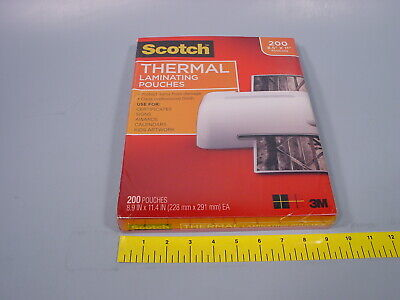 3m Scotch Tp3854-200 Thermal Laminating Pouches 200 Count 8.9x11.4