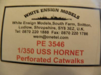WHITE ENSIGNS MODELS 1/350 PE USS HORNET PERFORATED CATWALKS- DETAIL SET