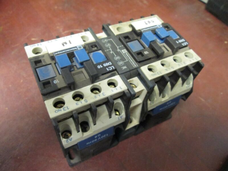 Telemecanique Contactors LC2D0911 120V Coil 25A Used