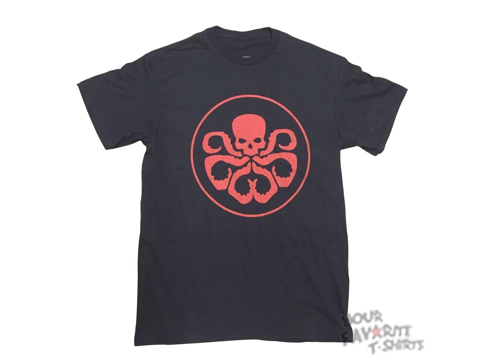Hydra Symbol Shield Avengers Marvel Comics Licensed Adult T Shirt Ebay