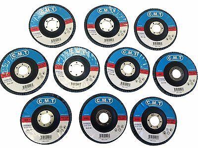 (10) 4 1/2'' 60 GRIT FLAP SANDING GRINDING DISCS 4.5'' 7/8''ANGLE GRINDER WHEELS