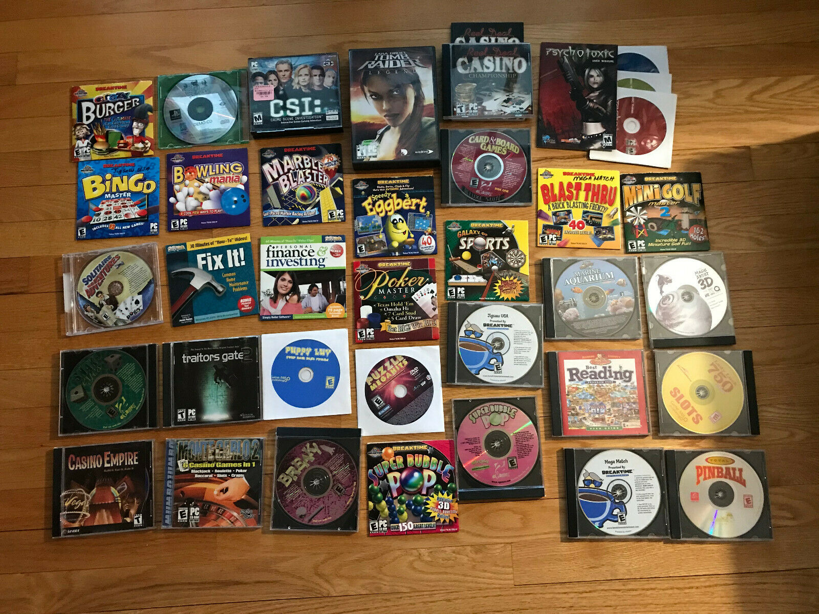 Computer Games - Lot of 36 CD-Rom Computer Games