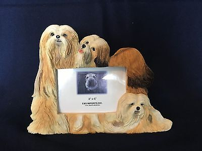 Lhasa Apso Dog Picture Frame E&S Imports 4x6
