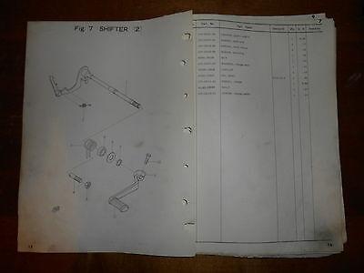 Yamaha Parts Dealer - OEM Yamaha 1967 YCS1 Original Dealer Parts List