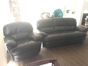 Leather sofa and 2 recliners Upper Coomera Gold Coast North Preview