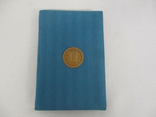 VINTAGE FENDI MINIATURE BLUE PURSE ADDRESS BOOK
