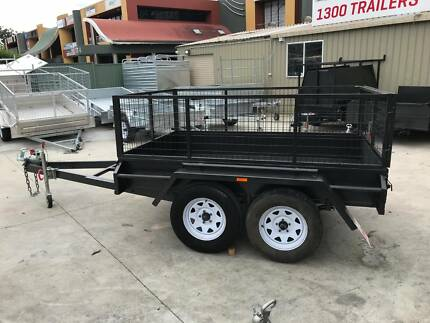 8x5 Box Trailer Tandem axle with painted 600mm cage Loganholme Logan Area Preview