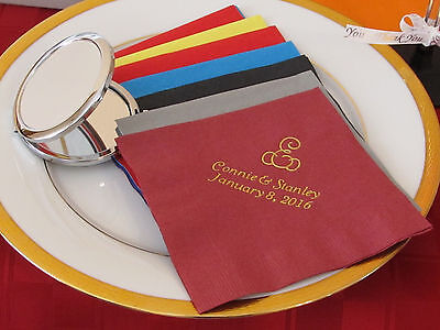 350 personalized monogram napkins wedding luncheon napkins custom printed  - Monogrammed Wedding Napkins