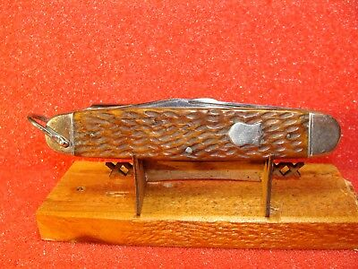 NEW YORK KNIFE CO. HAMMER BRAND WALDEN NY. 1882-1931--BUFFALO BILL CAMPER--4018