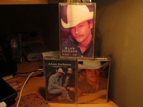 Alan Jackson - 3 Cassette Tape Lot - Who I Am, Everything I Love, High Mileage