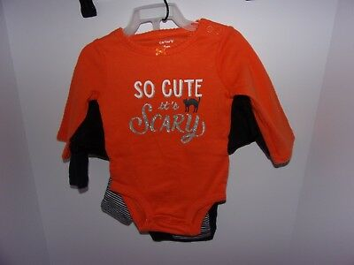 Carters: Baby Girls 3 Months (3 Pc) Set Halloween So Cute It's Scary Long Sleeve (It's Halloween Baby)