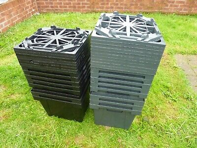 Florist Cut Flower Buckets Pots With Matching sectioned lids & water tight x15