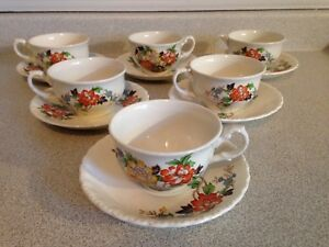 38 Pieces of Vintage Grindly Cream Pedal England China Dishes
