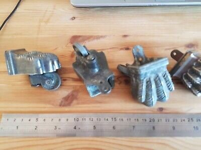 4  antique metal LIONS FOOT CLAW - FURNITURE CASTORS