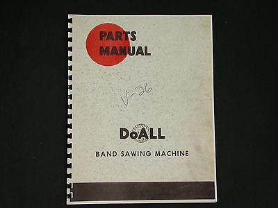 Doall Model V-26 Band Saw Parts Manual  53