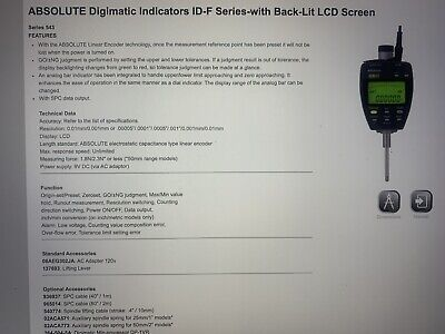 Mitutoyo 543 Absolute Digimatic Indicator And Stand