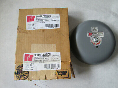 New Federal Signal A6 Bell Alarm Gong Gray