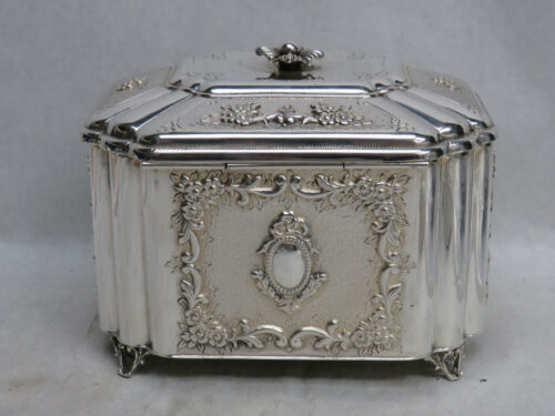 FABULOUS VINTAGE STERLING SILVER JEWELRY BOX