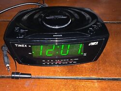 Timex Large Display Alarm Clock Radio, MP3 Line-In, Auxiliary (Model T227BQ)