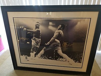 Muhammad Ali and Joe Frazier at Madison Square Garden Signed (Muhammad Ali And Joe Frazier Signed Boxing Gloves)