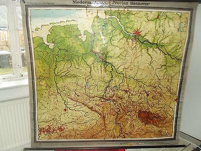 alte Landkarte Niedersachsen - Provinz Hannover 1940 Leinwand Karte