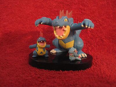 3 Pokemon Figure:Impergator+Tyracroc+Karnimani/1,5-5cm(Feraligatr/Totodile)Zukan