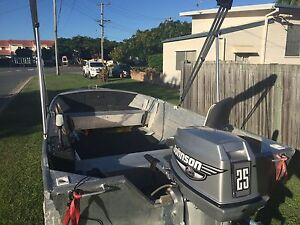 3.75 Stesco Squire with Johnson 25 tinny Hope Island Gold Coast North Preview
