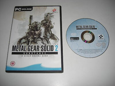METAL GEAR SOLID 2 Pc DVD Rom nm MGS2 MGS SUBSTANCE - FAST DISPATCH ()