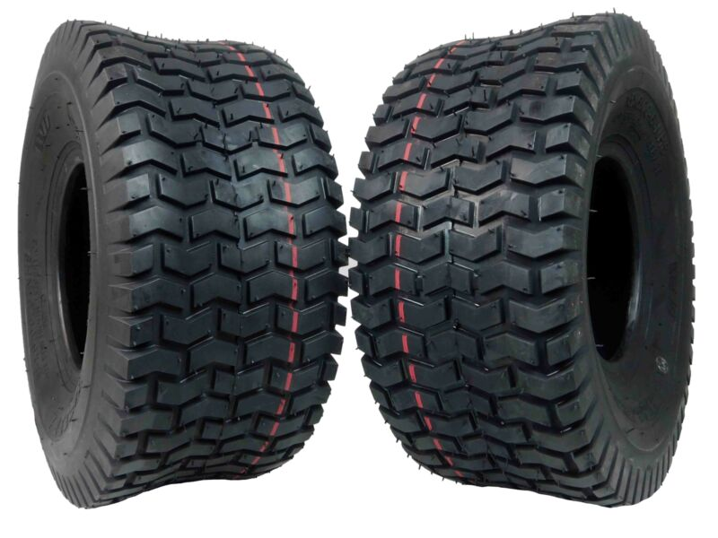 2 Pack MASSFX 15x6-6 Lawn mower Tires 15x6-6 15x6x6 4PLY 6mm Tread Depth