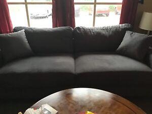 Newer Grey Linen Sofa