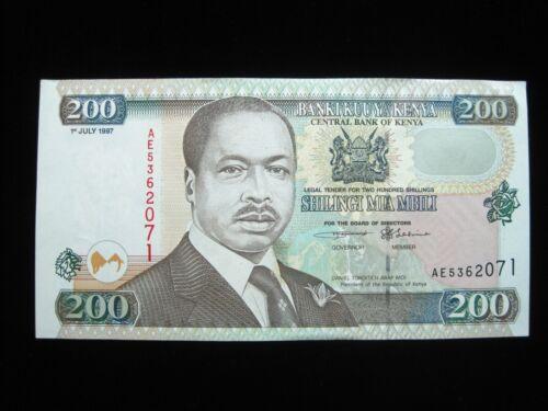 KENYA 200 SHILLINGS 1997 AFRICA SHARP 71# Currency Bank Money Banknote