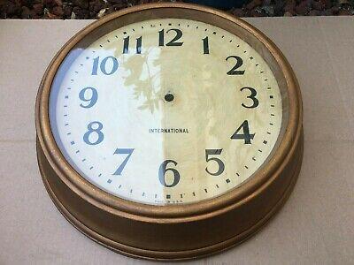 Vintage IBM Wall Clock Case-No Clock Mechanism