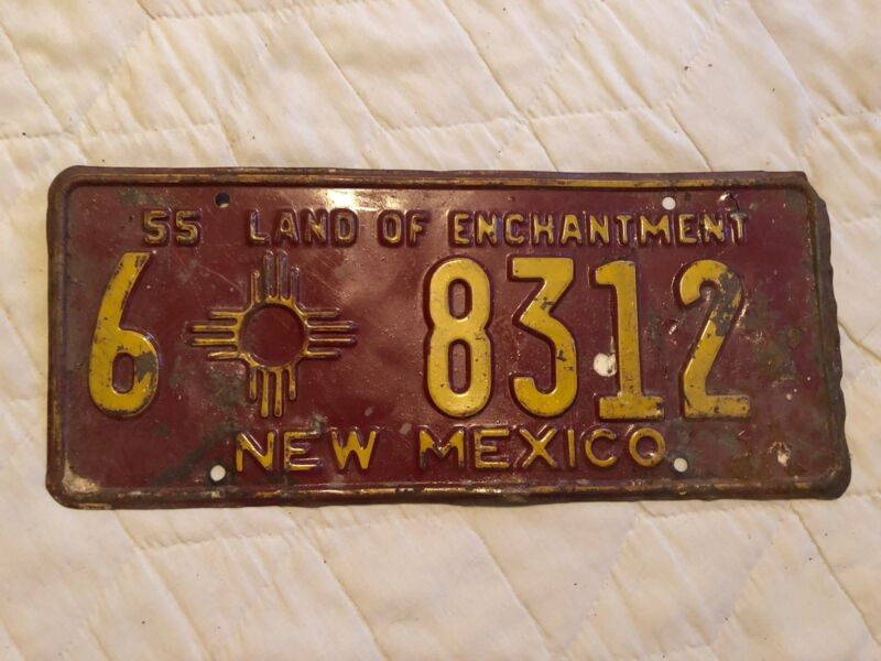 1955 NEW MEXICO LICENSE PLATE 6 8312
