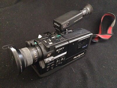 Vintage 1987 Sony Video Camera Recorder (CCD-V5) With Vintage Tamrac Camera Bag